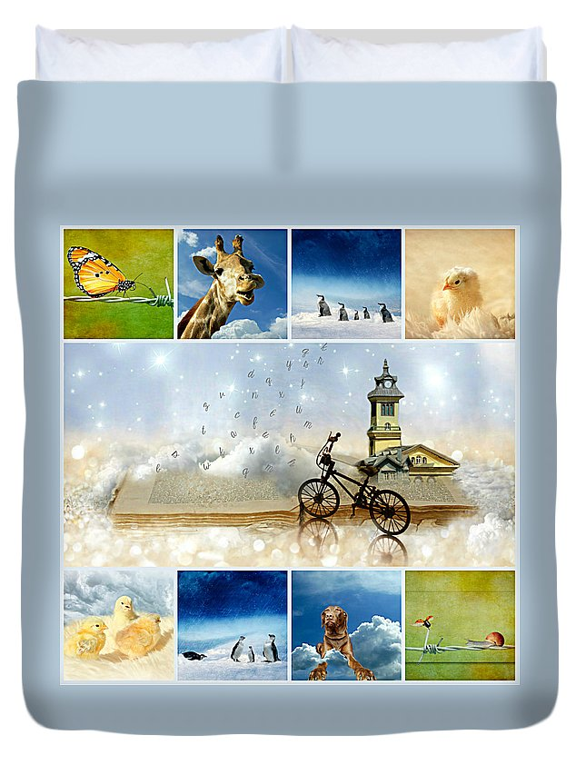 Spring Duvet Cover featuring the photograph It's Magic by Heike Hultsch