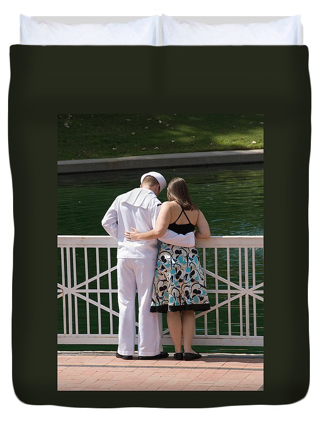 Sailor Duvet Cover featuring the photograph It's Not Goodbye by Charles Beeler