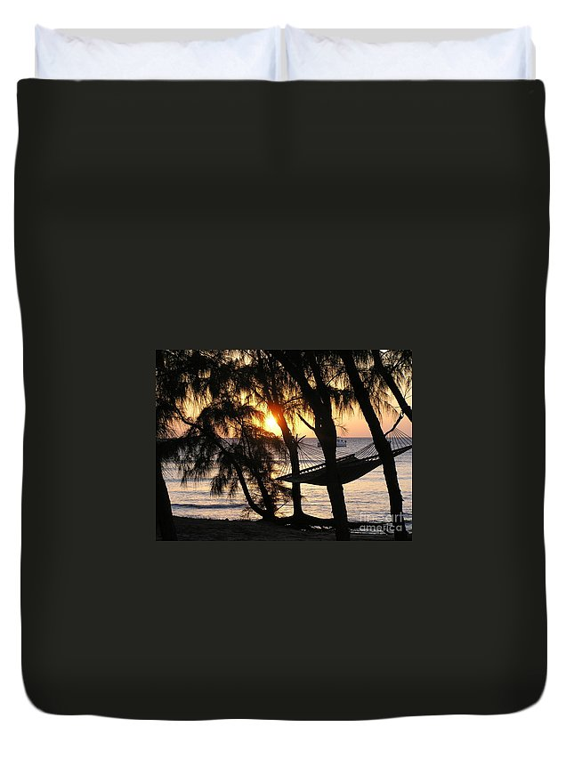 Sunsets Duvet Cover featuring the photograph It's Ok - Relax by Donna Spencer