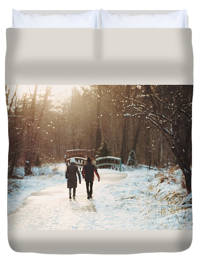 Winter Duvet Cover featuring the photograph It's Starting To Look A Lot Like Christmas by Mary Smyth