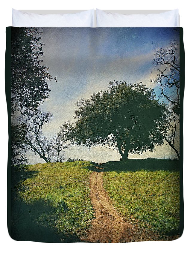 Lafayette Reservoir Recreation Area Duvet Cover featuring the photograph It's Time To Get Up That Hill by Laurie Search