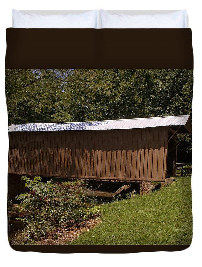 Jack's Creek Bridge Duvet Cover featuring the photograph Jack's Creek Bridge by Shannon Louder
