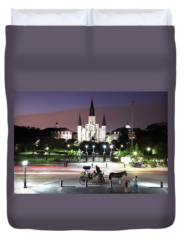 Southern Usa Duvet Cover featuring the photograph Jackson Square by Denistangneyjr
