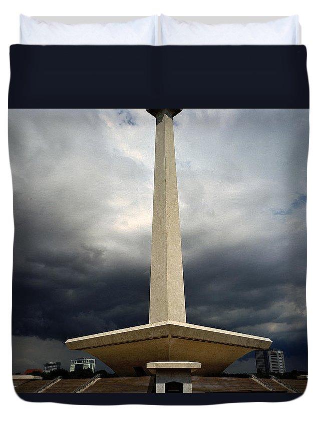 Modern Duvet Cover featuring the photograph Modernism In Jakarta by Shaun Higson