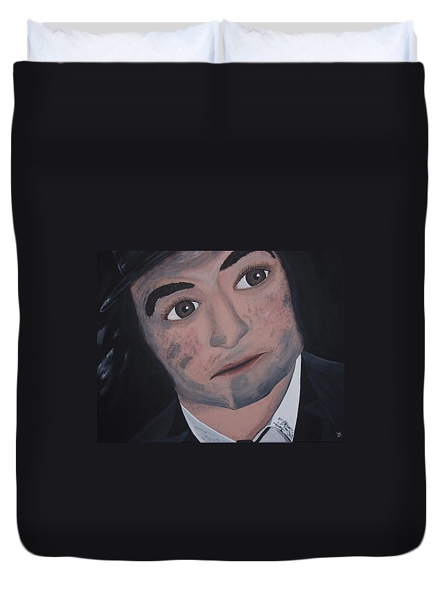 Bluesy Duvet Cover featuring the painting Jake Blues by Dean Stephens