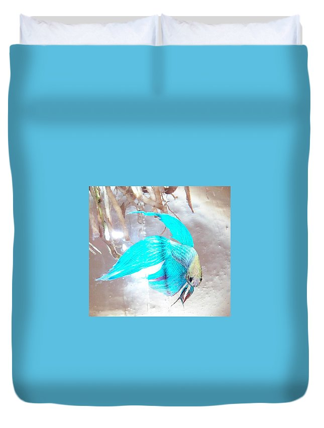 Fish Duvet Cover featuring the photograph Jake Called Him Rock by Barbara McDevitt