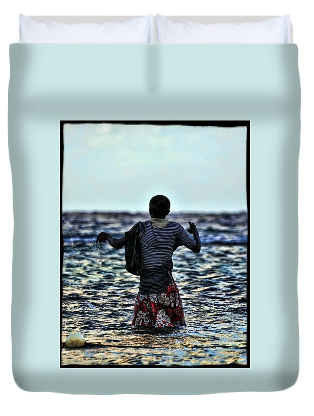 Jamaica Duvet Cover featuring the photograph Jamaica by Jes Fritze