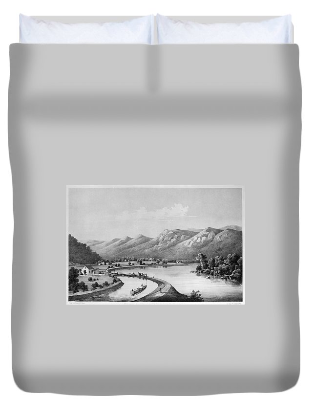 1857 Duvet Cover featuring the painting James River Canal, 1857 by Granger
