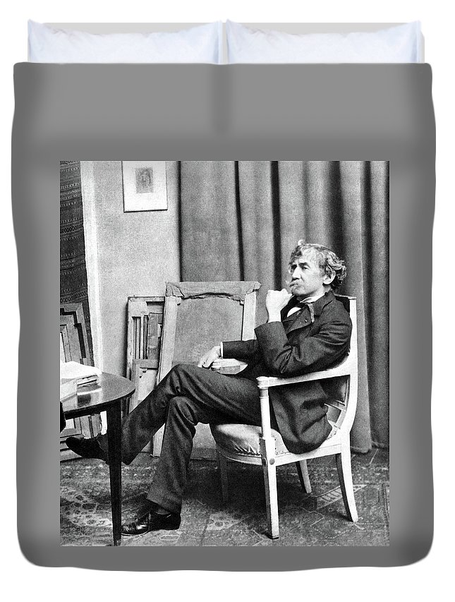 19th Century Duvet Cover featuring the photograph James Whistler (1834-1903) by Granger