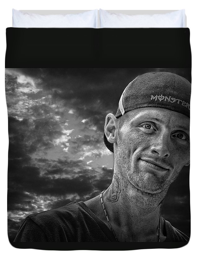 Jamers13@hotmail.ca Duvet Cover featuring the photograph Jamie Ashley by John Herzog