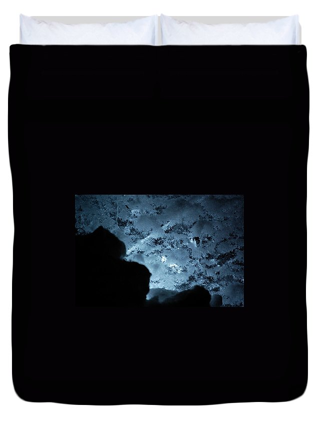 Gray Duvet Cover featuring the photograph Jammer Deep Blue 001 by First Star Art