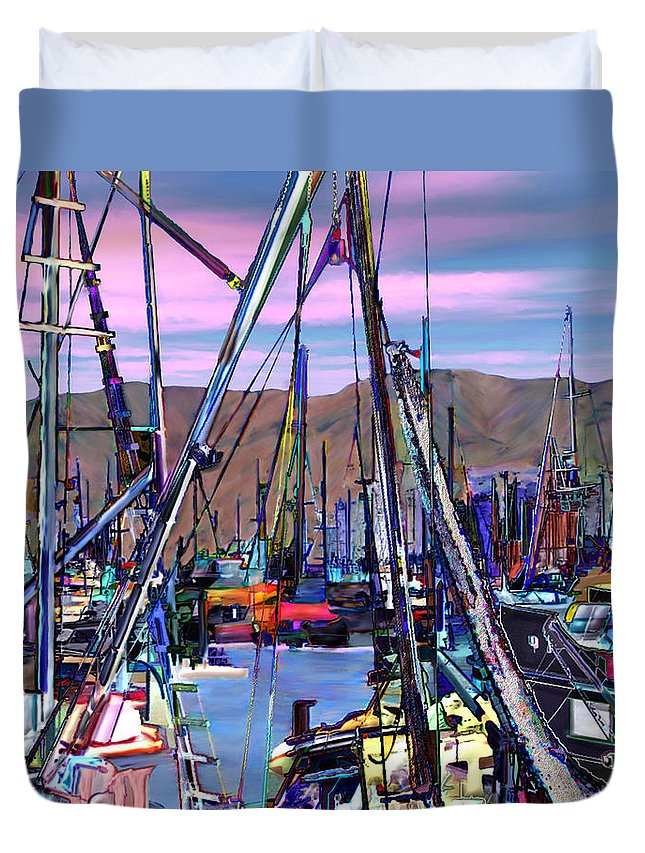 Harbors Duvet Cover featuring the photograph Jammin At Twilight by Kurt Van Wagner