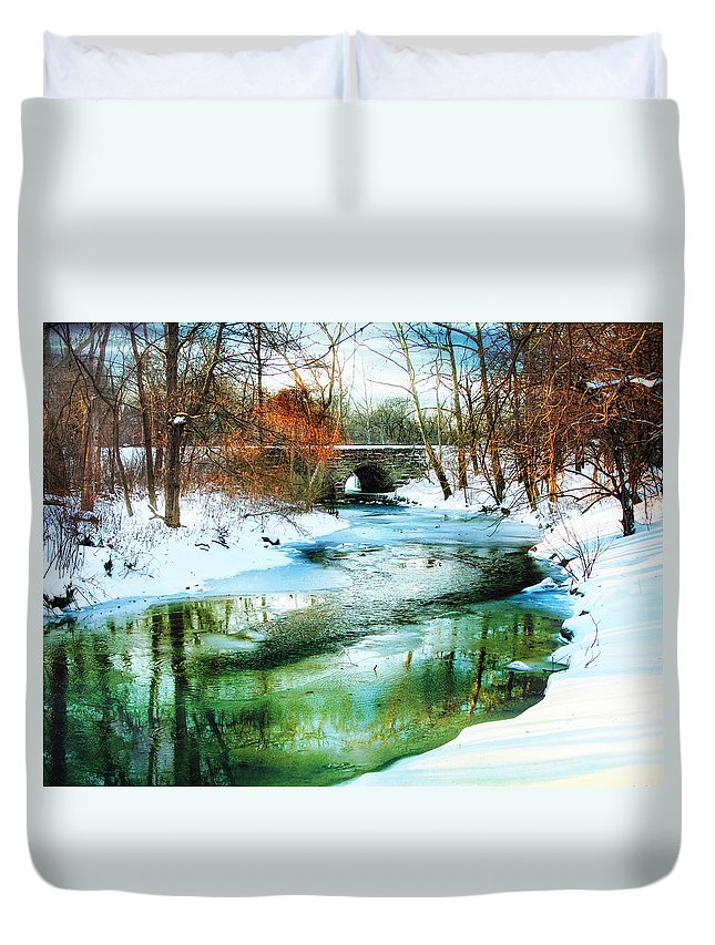 Winter Duvet Cover featuring the photograph January Thaw by Jessica Jenney