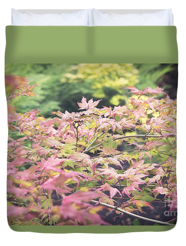 Photography Duvet Cover featuring the photograph Japanese Maples by Ivy Ho