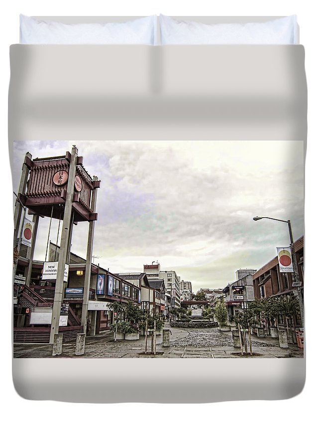 japan Town Duvet Cover featuring the photograph Japantown - Nihon Machi - San Francisco by Daniel Hagerman