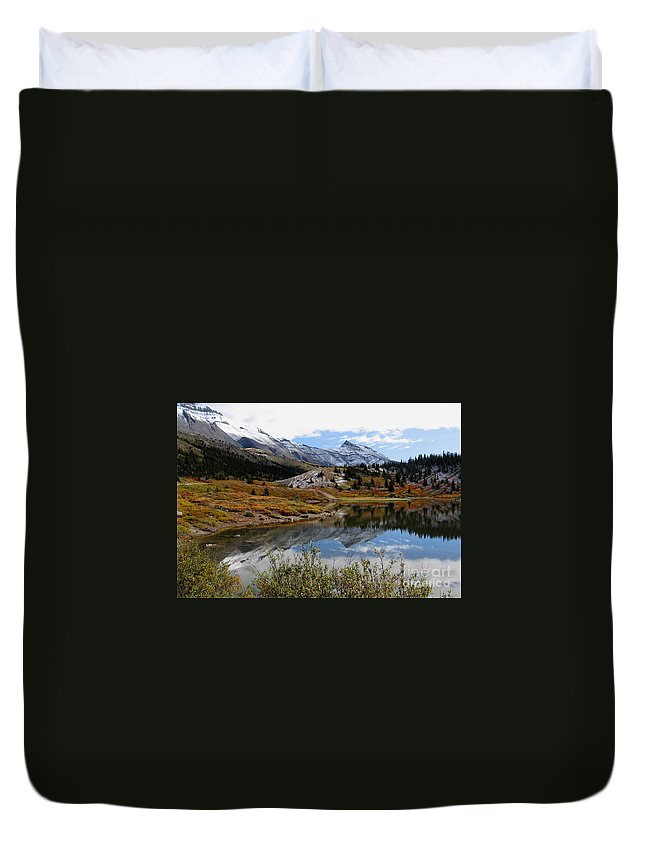 Adventure Duvet Cover featuring the photograph Jasper Banff National Park In Fall by Stephan Pietzko