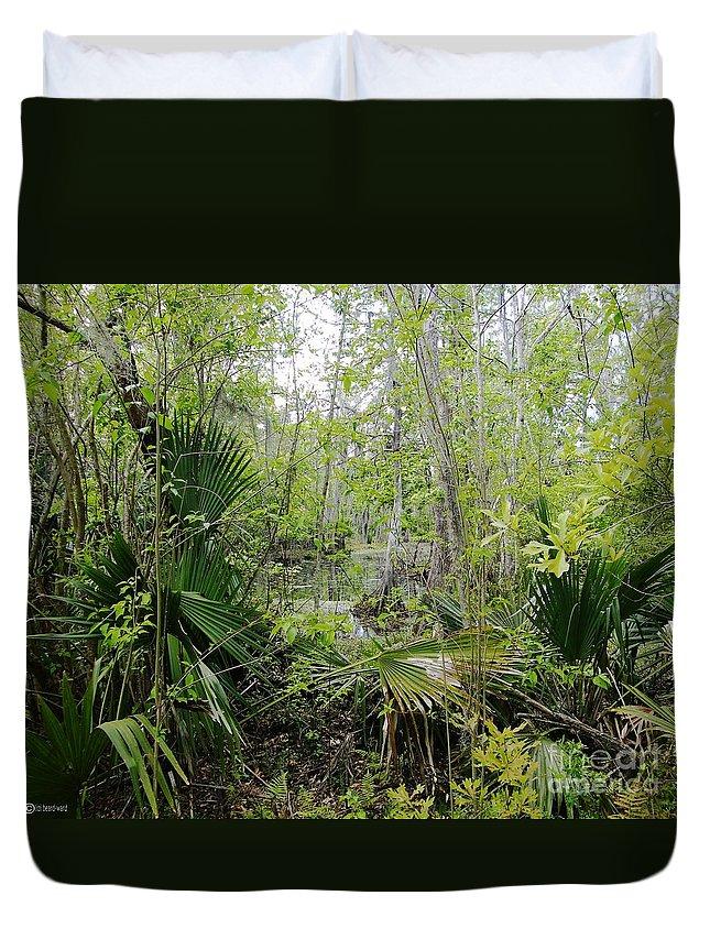 Nature Duvet Cover featuring the photograph Jean Lafitte National Preserve Swamp Louisiana by Lizi Beard-Ward