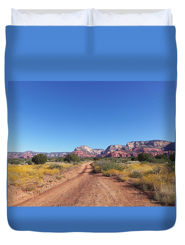 Arizona Duvet Cover featuring the photograph Jeep Trail by Two Bridges North