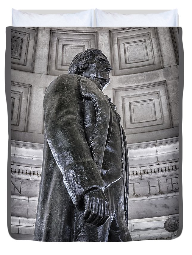 America Duvet Cover featuring the photograph Jefferson by Joan Carroll