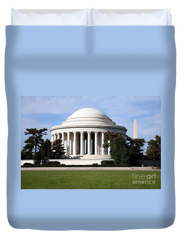 Capital Duvet Cover featuring the photograph Jefferson Memorial by Bill Cobb
