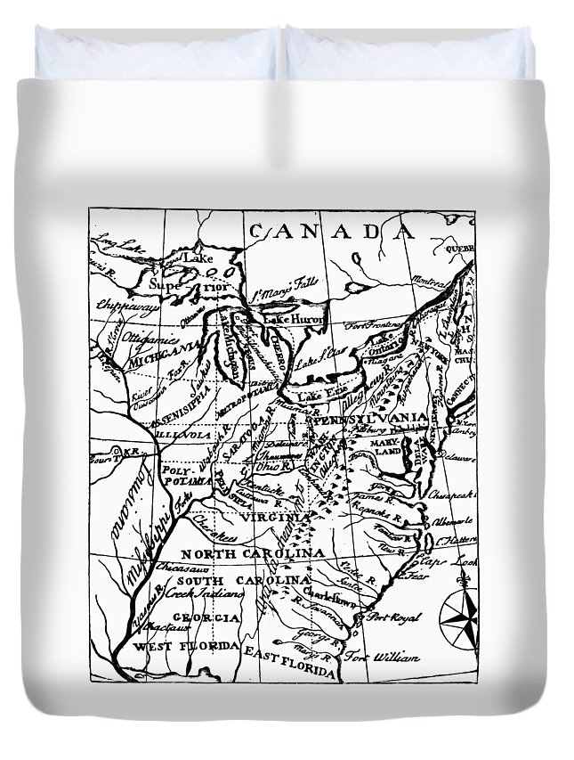 1784 Duvet Cover featuring the photograph Jefferson: States, 1784 by Granger