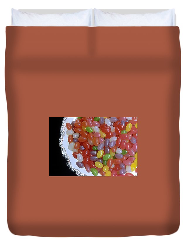 Jelly Beans Duvet Cover featuring the photograph Jelly Beans by Jerry McElroy