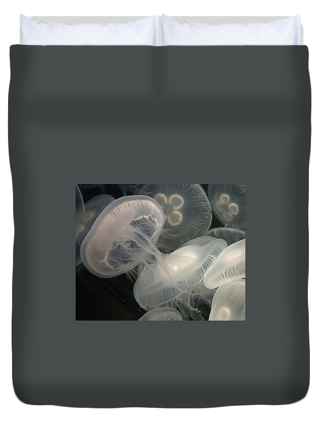 Jellyfish Duvet Cover featuring the photograph Jellyfish by Ernie Echols