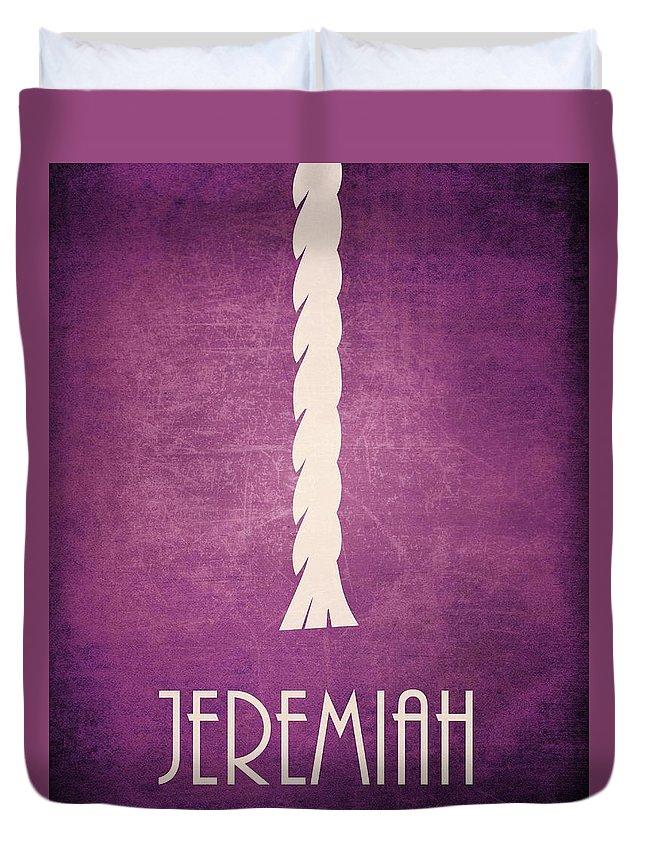 Bible Duvet Cover featuring the digital art Jeremiah by Brett Pfister