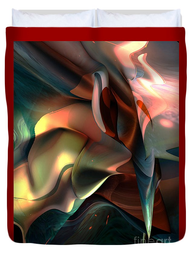 Painter Duvet Cover featuring the painting Jerome Bosch Atmosphere by Christian Simonian