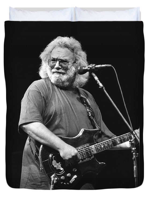 Musician Jerry Garcia Duvet Cover featuring the photograph Jerry Garcia Band by Concert Photos