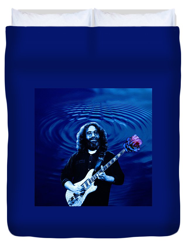 Grateful Dead Duvet Cover featuring the photograph Blue Ripple Rose by Ben Upham