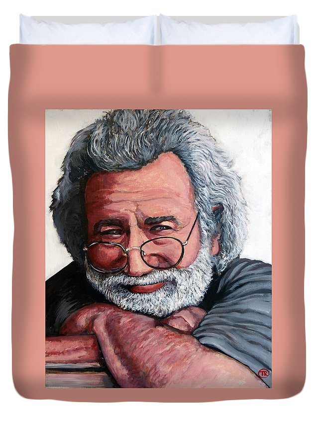 Jerry Duvet Cover featuring the painting Jerry Garcia by Tom Roderick