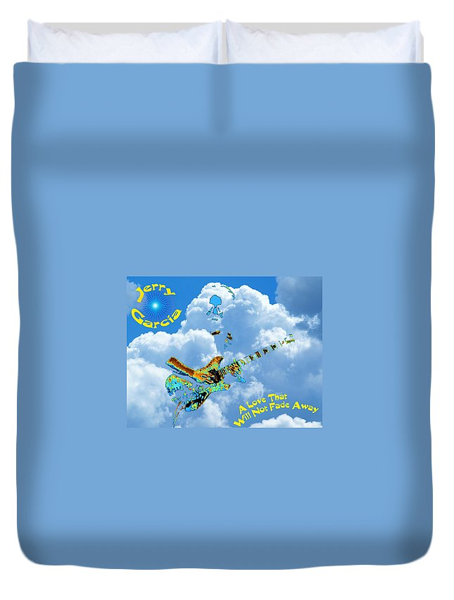Jerry Garcia Duvet Cover featuring the photograph Jerry In The Sky With Love by Ben Upham