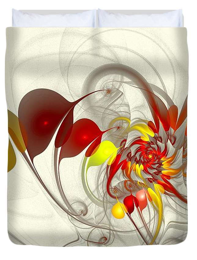 Jester Duvet Cover featuring the digital art Jester by Anastasiya Malakhova