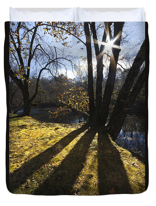 Appalachia Duvet Cover featuring the photograph Jewel In The Trees by Debra and Dave Vanderlaan