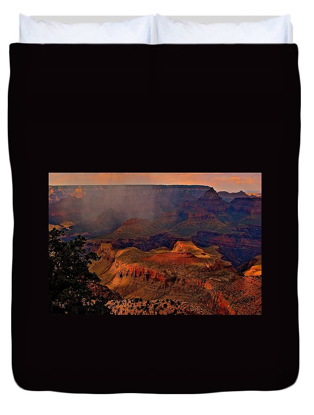 Nature Duvet Cover featuring the photograph Jewel Of The Grand Canyon by Jim Hogg
