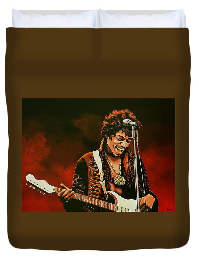 Art Rock Guitarist Jimi Hendrix Duvet Covers