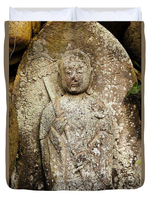 Jizo Bodhisattva Duvet Cover featuring the photograph Jizo Bodhisattva by Scott Hill