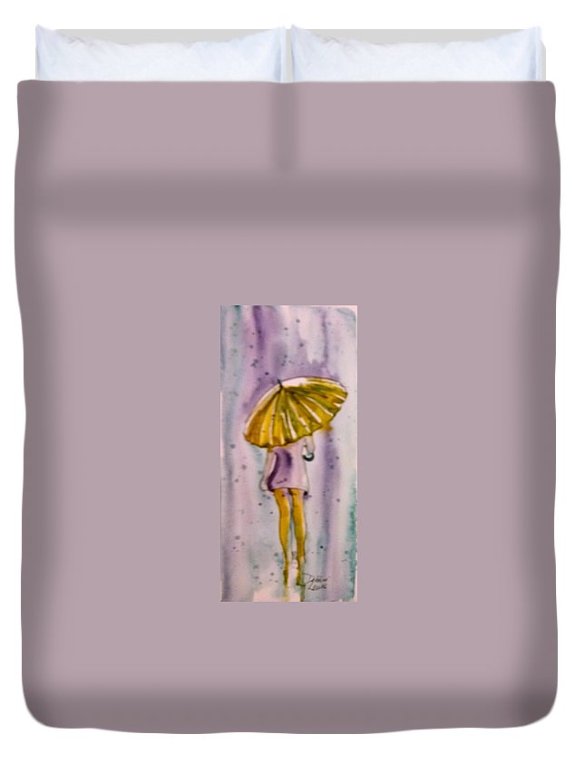 Jo Malone Duvet Cover featuring the painting Jo Malone 5 by Debbie Lewis