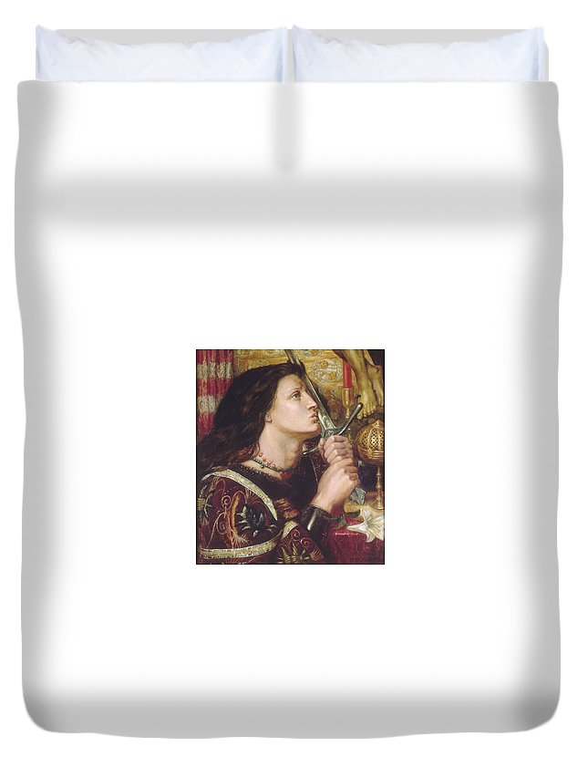 Dante Duvet Cover featuring the painting Joan Of Arc Kisses The Sword Of Liberation by Philip Ralley