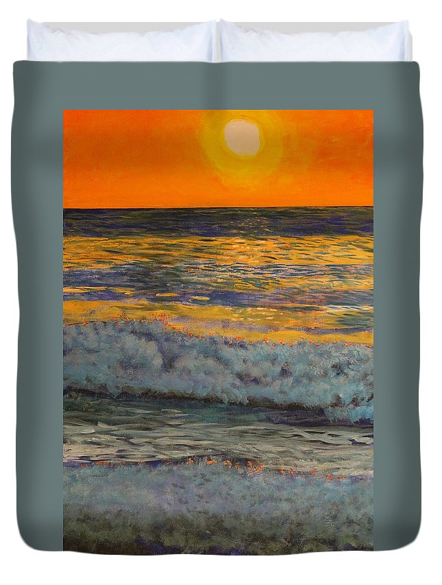 Landscape Duvet Cover featuring the painting Joe's Cape Cod by William Tremble