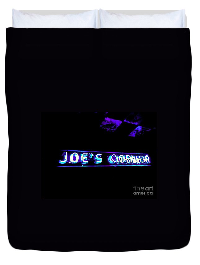 Duvet Cover featuring the photograph Joe's Corner by Kelly Awad