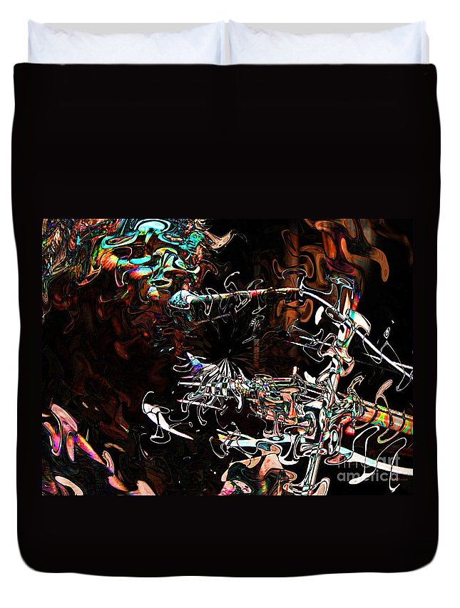 Fractal Art Duvet Cover featuring the digital art John Cale #2 by Elizabeth McTaggart