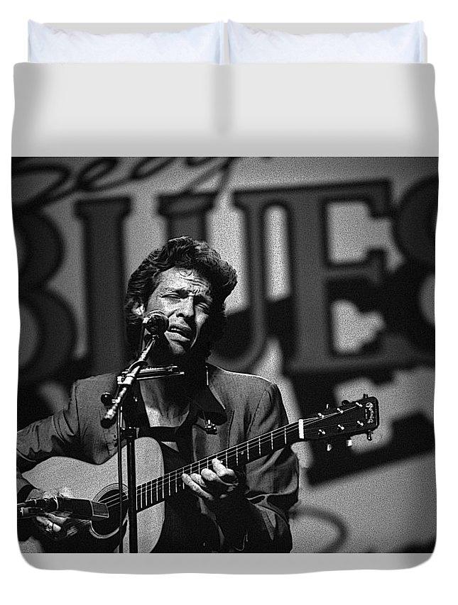 John Hammond Duvet Cover featuring the photograph John Hammond Blues by Dragan Kudjerski