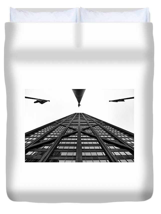 Chicago Duvet Cover featuring the photograph John Hancock Building by Onyonet Photo Studios