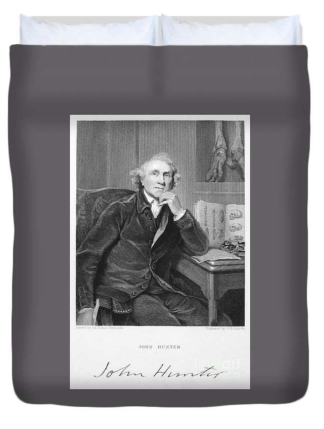 18th Century Duvet Cover featuring the photograph John Hunter (1728-1793) by Granger
