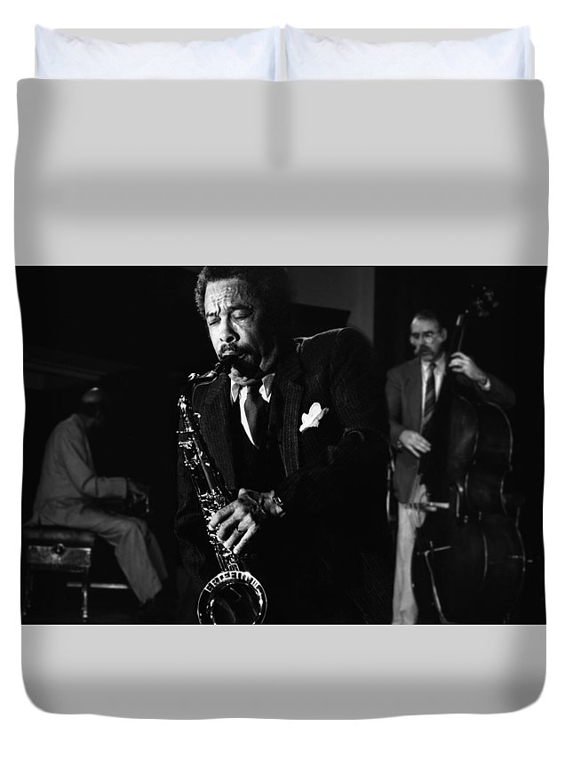 Johnny Griffin Iii Duvet Cover featuring the photograph Johnny Griffin 3 by Dragan Kudjerski