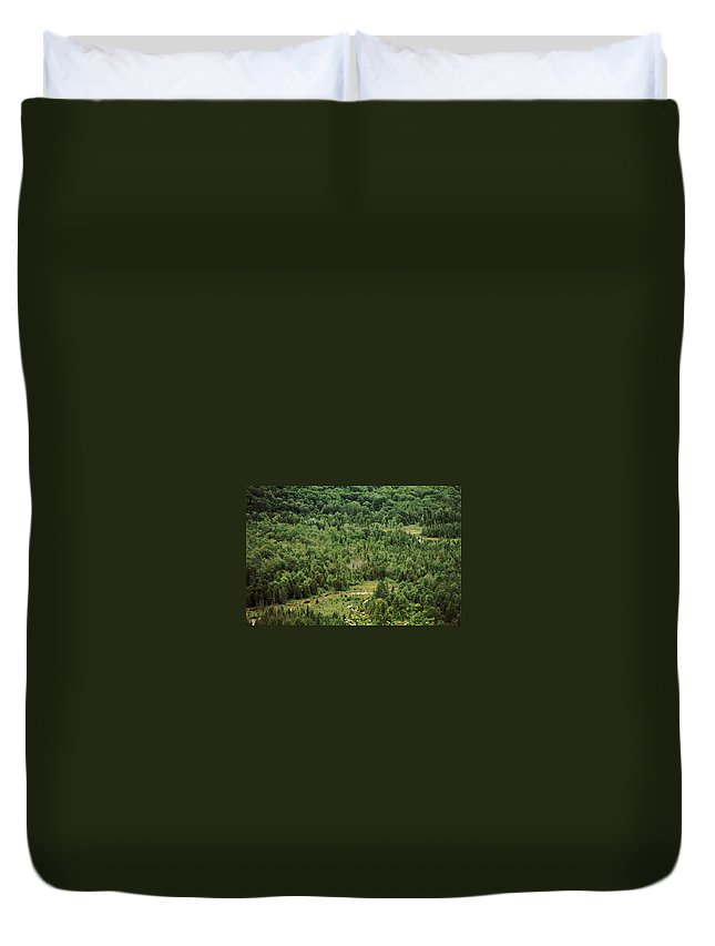 Deadman's Hill Duvet Cover featuring the photograph Jordan River Valley by Joseph Yarbrough