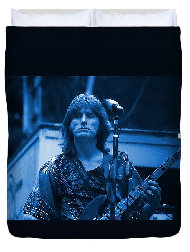 Ross Valory Duvet Cover featuring the photograph Journey #2 Enhanced In Blue by Ben Upham