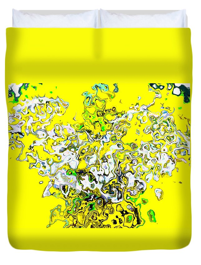 Bright Duvet Cover featuring the painting Joy by Cliff Wilson